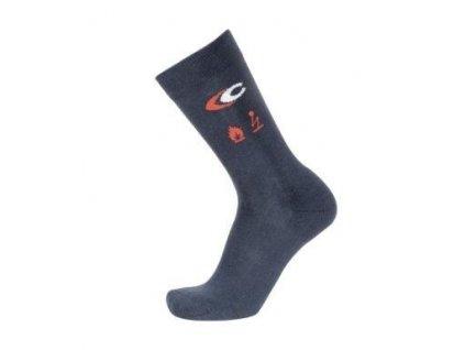 Ohnivzdorné pracovní ponožky COFRA TOP FLAME (Barva Modrá, Velikost XL)