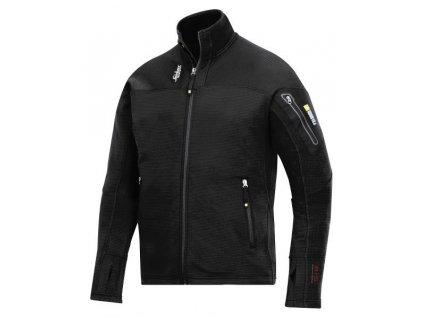 Bunda Snickers Mikro - fleece na zips 9438 (Farba čierna, veľkosť XS)