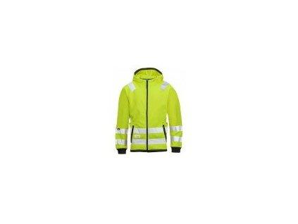Bunda Snickers mikro-fleecová, vysoká viditeľnosť EN 471 tr.3 8043 (Farba reflexná oranžová, Veľkosť XS)