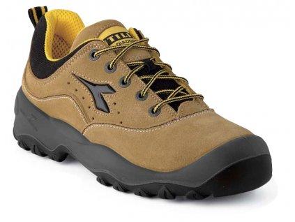 Nízka pracovná obuv - športový dizajn - DIADORA - GEMINI - zvršok: semišový vršok (veľkosť topánky 39)