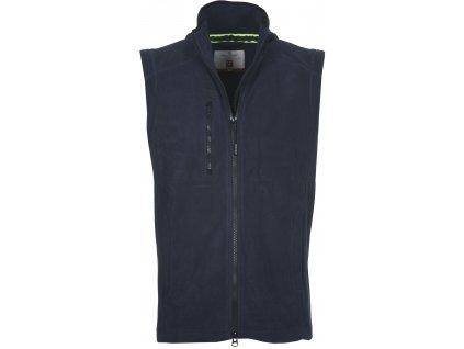Pánska fleecová vesta s plastovým obojsmerným zipsom EASY + 280 GR / MQ (veľkosť S, farba šedá)
