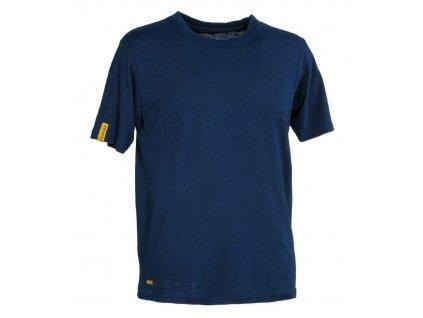 Pánske pracovné tričko COFRA pitingu 160 g / m2 (Farba modrá, Veľkosť 2XL)