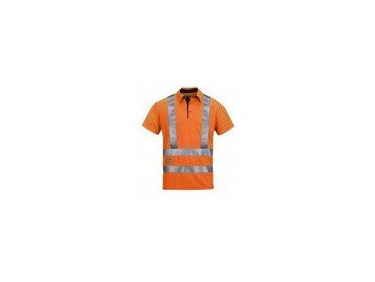 Polokošeľa AVS, vysoká viditeľnosť EN 471 tr.2 / 3 2743 (Farba reflexná oranžová, Veľkosť XS)