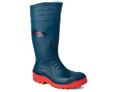 Pracovné bezpečnostné čižmy modré - EDIS - STIVAL sicurezza BLU - čižmy z PVC a nitrilovej gumy (veľkosť topánky 39)