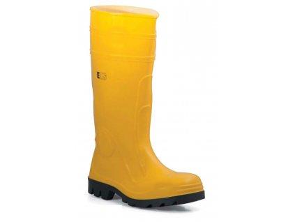 Pracovné bezpečnostné čižmy žlté EDIS - STIVAL sicurezza Giallo - čižmy z PVC a nitrilovej gumy (veľkosť topánky 39)