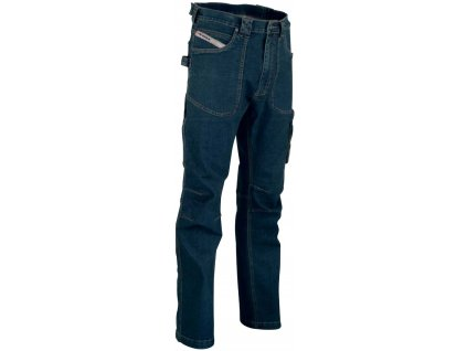 Pracovné nohavice Jeans COFRA Barcelona 330 g / m2 (Farba modrá, Veľkosť 46)