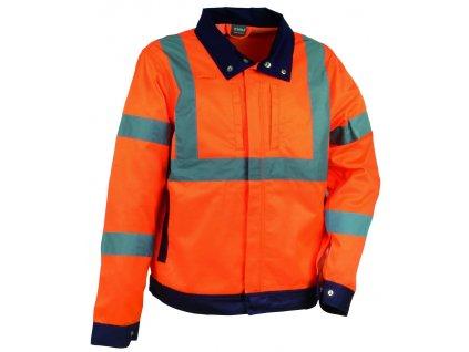 Reflexná pracovná ľahká bunda COFRA DAZZLE 300 g / m2 (Farba reflexná oranžová, veľkosť XXL)