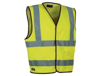 Reflexná pracovná vesta COFRA CLEAR 135 g / m2 (Farba reflexná oranžová, veľkosť XXXXL)