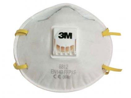 7694 respirator 3m 8812 jako typ 8710e navic vybaven vydechovym ventilem