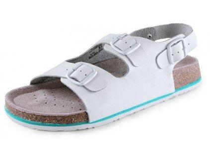 Dámske sandále CXS CORK MEGI s pásikom (veľkosť 35, farba biela)