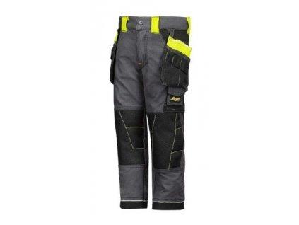 Detské nohavice SNICKERS s púzdrovými vreckami 7501 (Farba šedá, veľkosť 110/116)