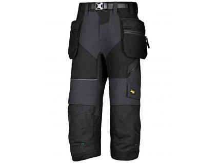 Kalhoty ¾ Pirate FlexiWork sPK černé vel. 124 Snickers Workwear (Veľkosť 044)