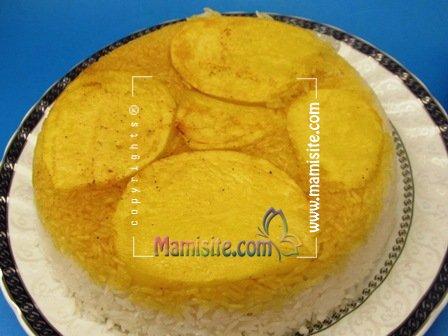 Šafránová rýže s bramborami