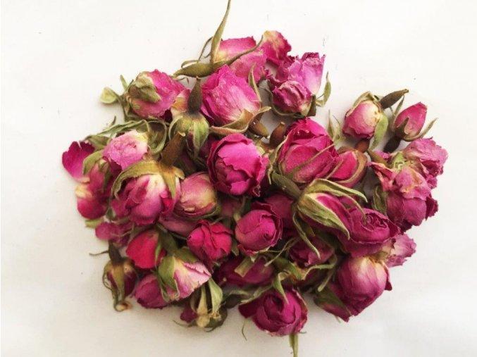 Růžová poupata sušené květy