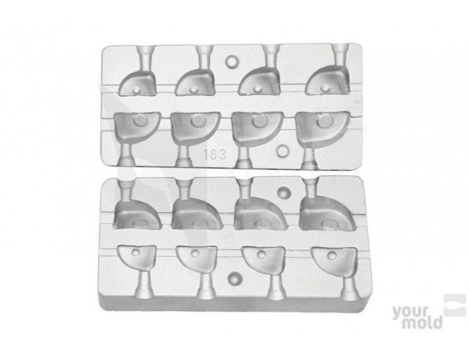 Forma na olovo F183 - čeburaška rybí hlava (11-31g)