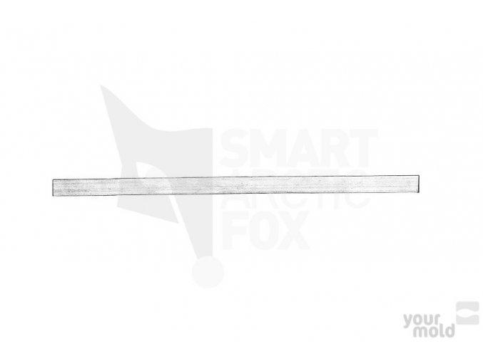 Plechové vodítko do formy na čeburašku 1.2mm