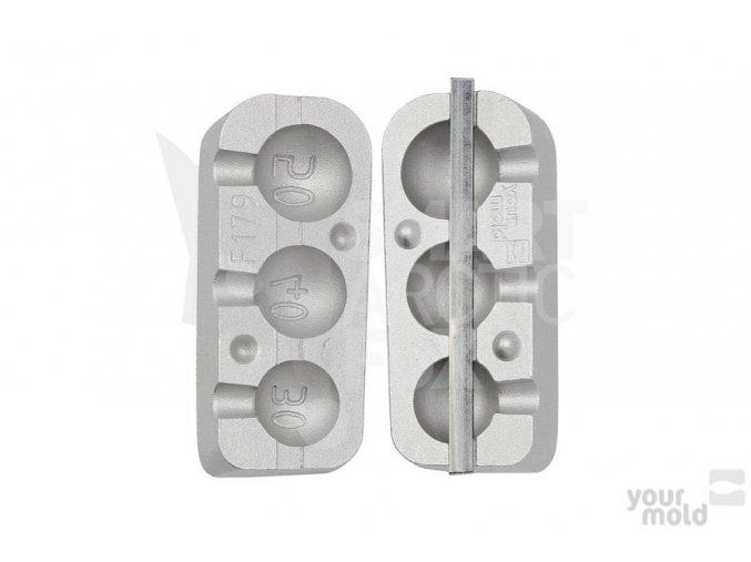Forma na olovo F179 - kloubová zátěž čeburaška (30/40/50g)