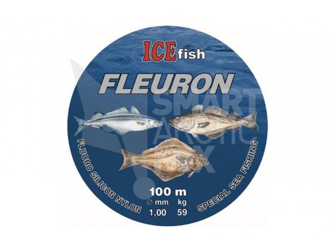Fluorokarbon na mořský rybolov ICE fish Fleuron 0.9mm 100m