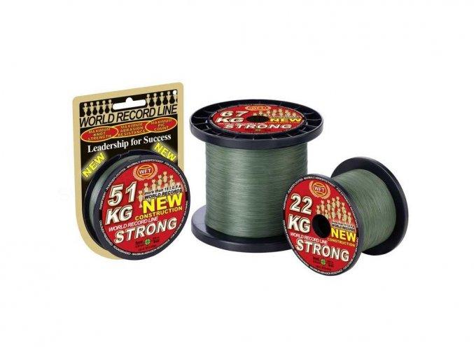 Pletená šňůra WFT KG Strong Green - zelená