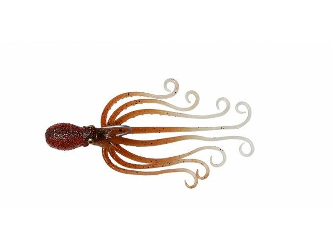 Gumová chobotnice Savage Gear 3D Octopus 16cm 120g Brown Glow