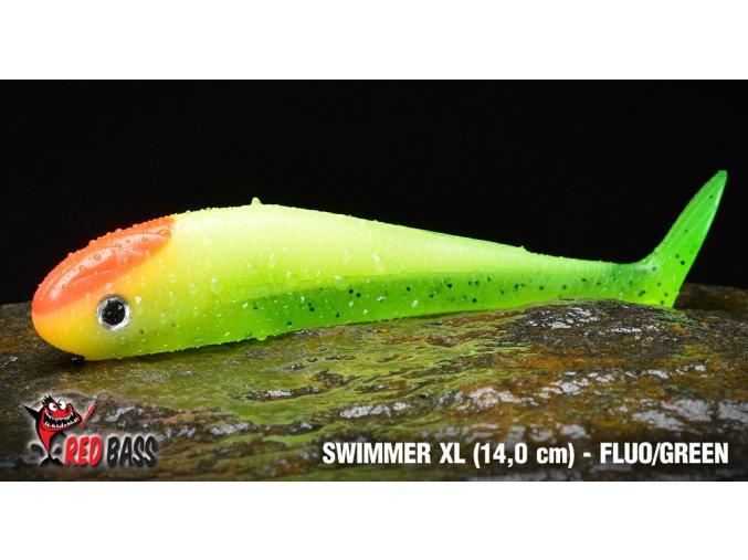 Ripper na moře REDBASS SWIMMER XL 140mm - Fluo Green
