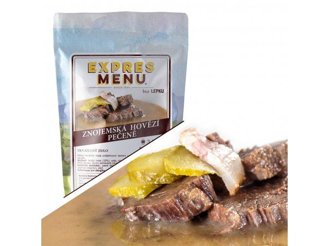 EXPRES MENU Znojemská hovězí pečeně  (1 porce) 300
