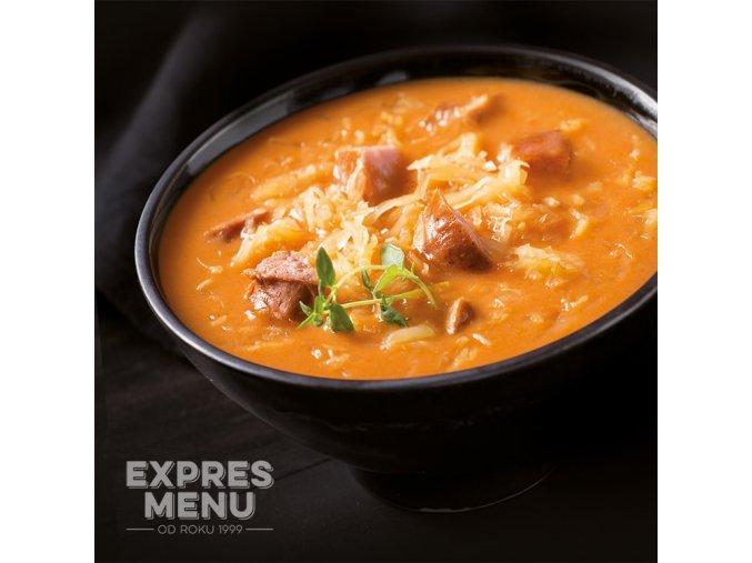 EXPRES MENU Zelná polévka s klobásou (2 porce) 600