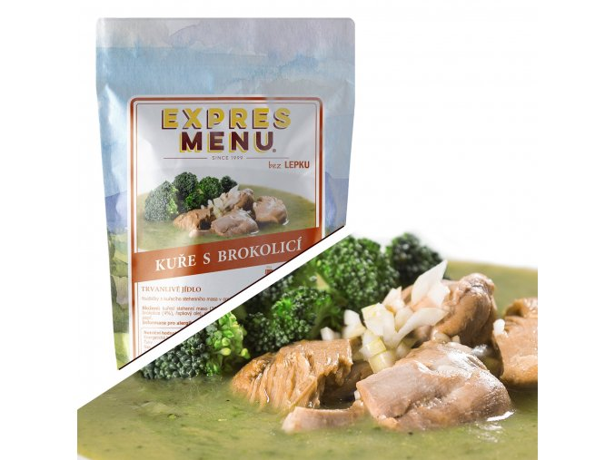 EXPRES MENU Kuře s brokolicí  (1 porce) 300