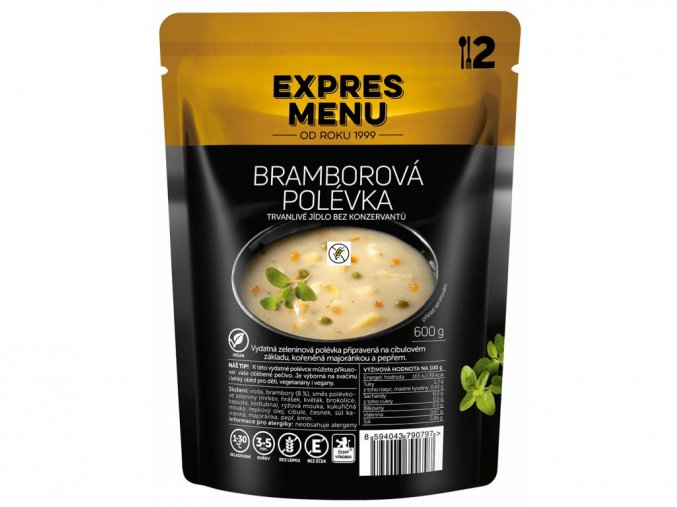 EXPRES MENU Bramborová polévka (2 porce) 600