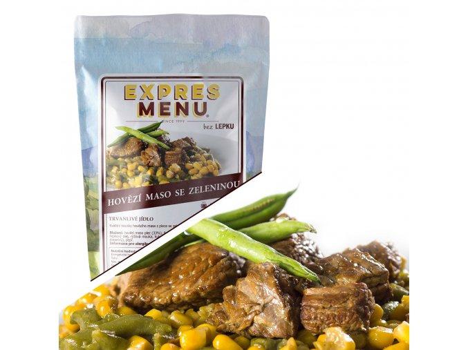 EXPRES MENU Hovězí maso se zeleninou  (1 porce) 300