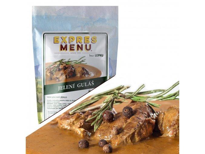EXPRES MENU Jelení guláš  (1 porce) 300
