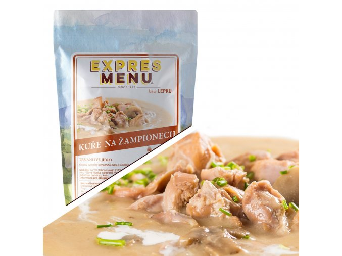 EXPRES MENU Kuře na žampionech  (1 porce) 300
