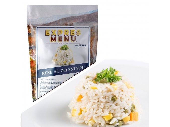 EXPRES MENU Rýže se zeleninou (2 porce) 500