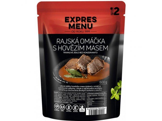 EXPRES MENU Rajská s hovězím masem (2 porce) 600