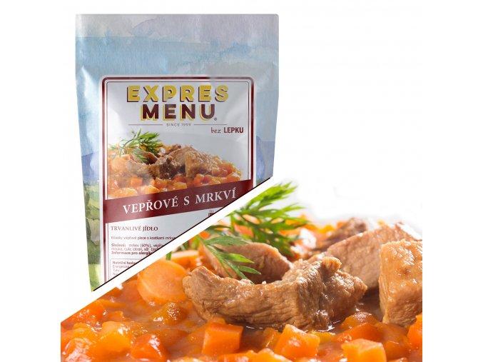 EXPRES MENU Vepřové maso s mrkví  (1 porce) 300