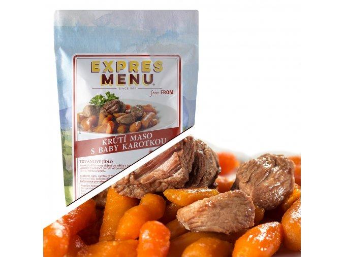 EXPRES MENU Krůtí maso s baby karotkou  (1 porce) 300