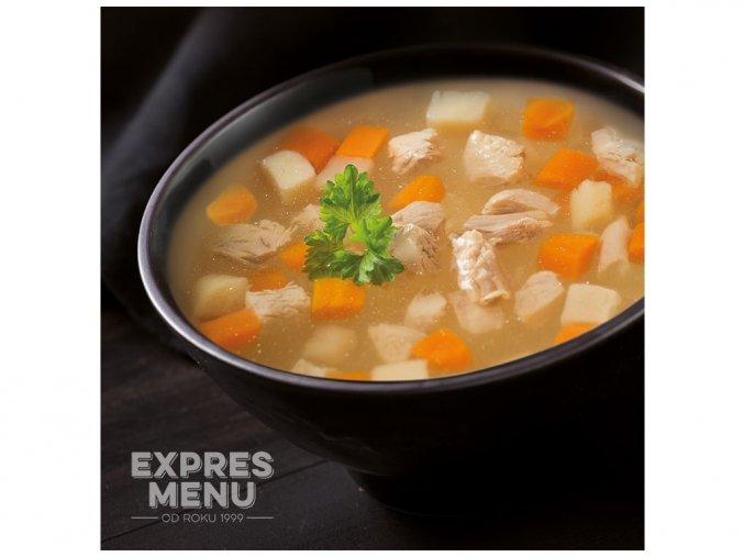 EXPRES MENU Kuřecí vývar se zeleninou  (1 porce) 300