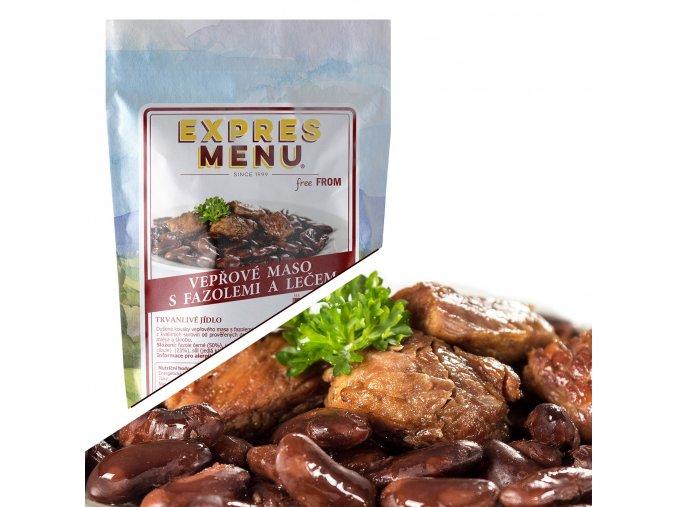 EXPRES MENU Vepřové maso s fazolemi a lečem  (1 porce) 300