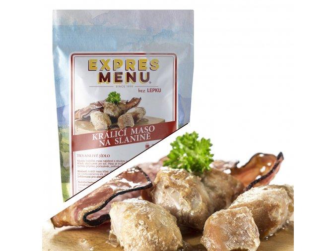 EXPRES MENU Králičí maso na slanině (300 g) 300