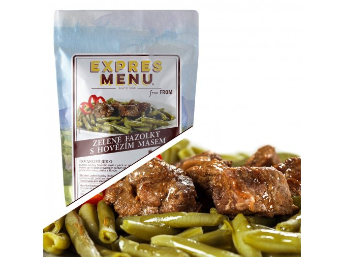 EXPRES MENU Zelené fazolky s hovězím masem  (1 porce) 300