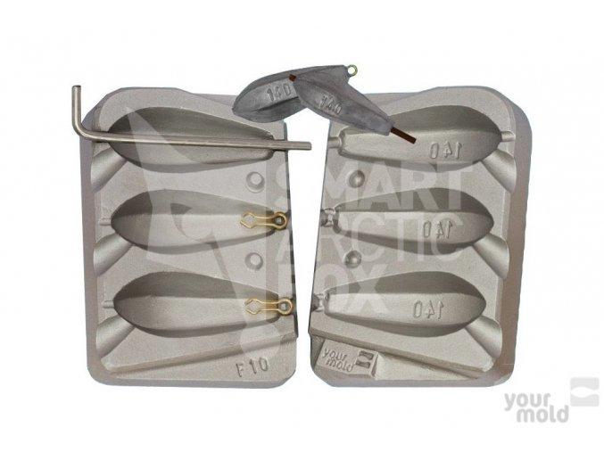 Forma na kaprové olovo F10 (140g)