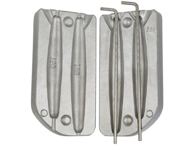 Forma na výrobu sumcových olov - zátěží 150 a 200g