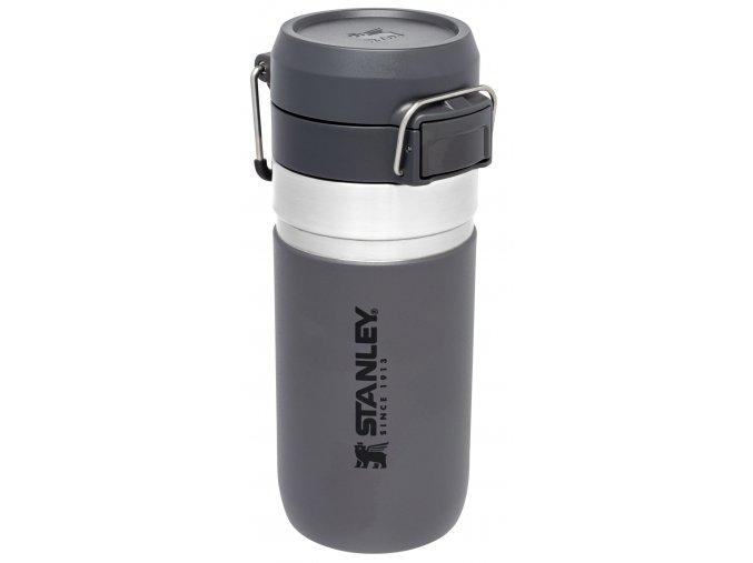 Vakuová láhev STANLEY GO FLIP - tmavě šedá (470ml)