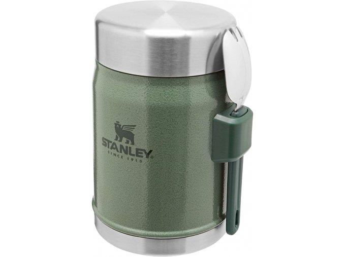 Jídelní termoska STANLEY se lžící - zelená (400ml)