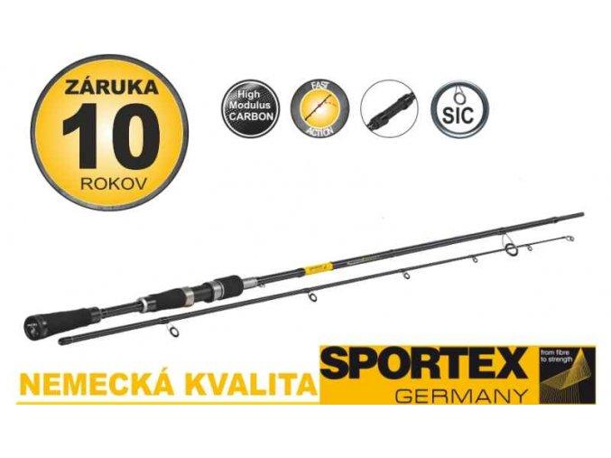 Přívlačové pruty SPORTEX Black Pearl GT-3 2-díl