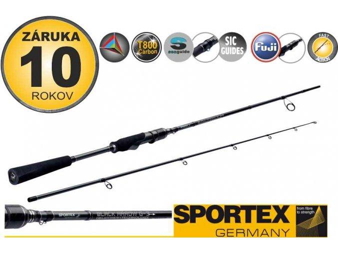 Přívlačové pruty SPORTEX Black Arrow G-3 spin 2-díl