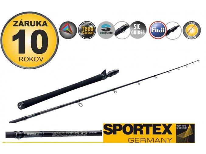 Přívlačové pruty SPORTEX Black Arrow G-3 Musky 2-díl