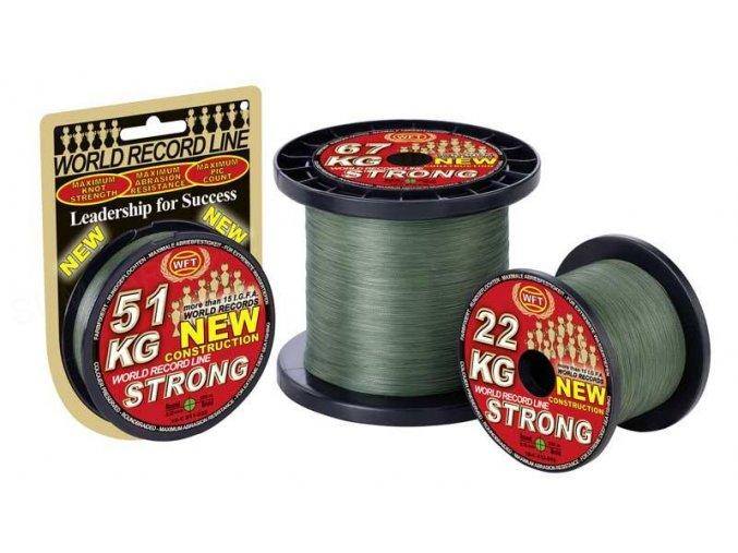 Pletená šňůra WFT KG Strong Green - zelená 0.12mm