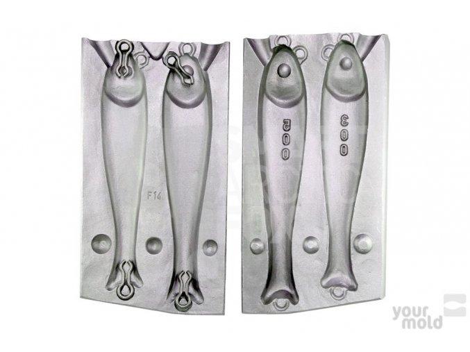 Forma na olovo F14 - pilkr ryba (300/500g)