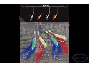 Návazec na makrely s barevnými krevetami #1/0 Aquantic